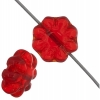 Glass Daisy 9mm Siam Ruby Strung Bead